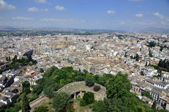 Panoramic view of Granada Stock Photo