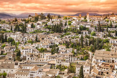 Panoramic view of Granada, Andalusia, Spain Stock Photo