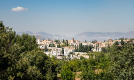 Panoramic view of Granada city in Spain Stock Photography