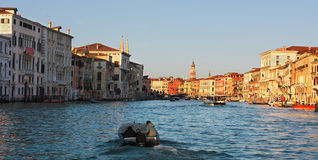 Panoramic view on Grand Canal. Royalty Free Stock Photo