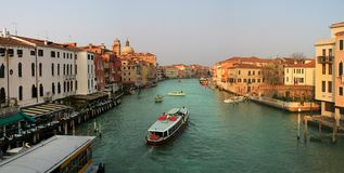 Panoramic view on Grand Canal. Stock Image
