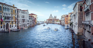 Panoramic view of Grand Canal in Venice Royalty Free Stock Photos