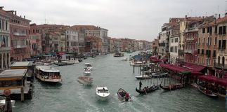 Panoramic View of Grand Canal, Venice Royalty Free Stock Images