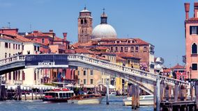 Panoramic view of Grand Canal in Venice, Italy Stock Images