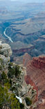 Panoramic view of the Grand Canyon Stock Image