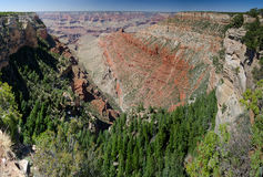 Panoramic view of the Grand Canyon Stock Photo