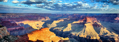 Panoramic view of Grand Canyon Royalty Free Stock Photography