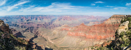 Panoramic view of Grand Canyon Royalty Free Stock Images