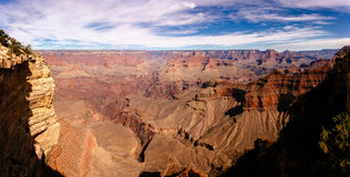 Panoramic view of Grand Canyon on sunny day. Stock Images