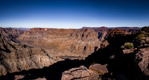 Panoramic view of Grand Canyon West Rim and Colorado River - Arizona, USA Royalty Free Stock Photos