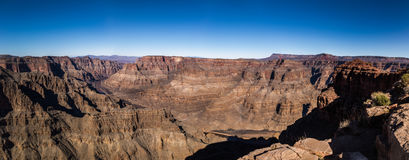 Panoramic view of Grand Canyon West Rim and Colorado River - Arizona, USA Stock Photography