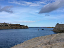 Panoramic view of Grand Harbor. From Floriana, Malta Stock Photography