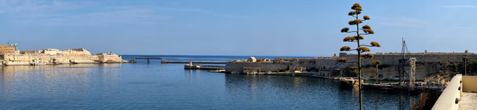 A panoramic view of the Grand Harbour. Malta. Stock Image
