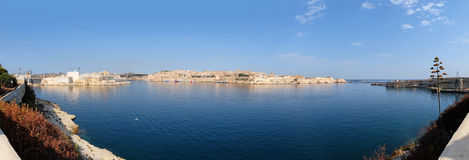 A panoramic view of the Grand Harbour (Port of Valletta).  Malta Stock Photos