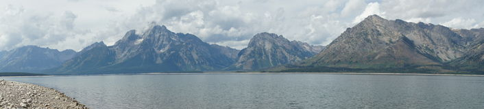 Panoramic view of the Grand Tetons Royalty Free Stock Photography