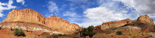 Panoramic View from Grand Wash Road Capitol Reef National Park Stock Photos