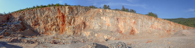 Panoramic view of gravel pit Royalty Free Stock Image