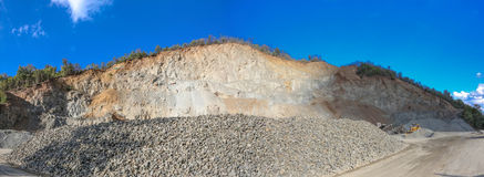 Panoramic view of gravel pit from Serbia Royalty Free Stock Images