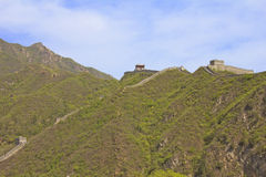 Panoramic view of the Great Wall of China Stock Photography