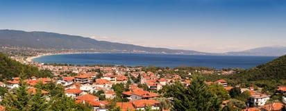 Panoramic view of Greece resort Stavros Royalty Free Stock Photos