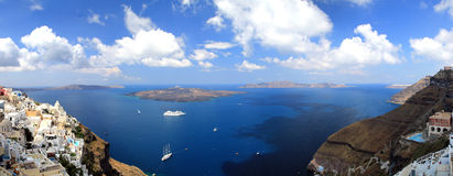 Panoramic view, Greece, Santorini Royalty Free Stock Photography