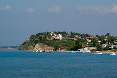 Panoramic view of Greek traditional village Stock Image