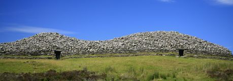 Panoramic view of the Grey Cairns of Camster in Ca Stock Photos