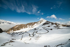 Panoramic view of Grossglockner High-Alpine Road Stock Photo