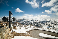 Panoramic view of Grossglockner High-Alpine Road Royalty Free Stock Image
