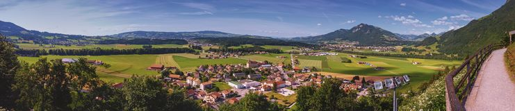 Panoramic view of Gruyeres area, Fribourg Stock Photography