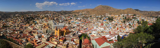 Panoramic view of Guanajuato, Mexico stock photo
