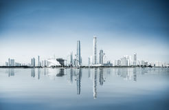 A panoramic view of guangzhou pearl river new city Royalty Free Stock Photos