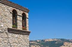 Panoramic view of Guardia Perticara. Basilicata. Italy. Stock Photos