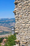 Panoramic view of Guardia Perticara. Basilicata. Italy. Stock Image