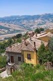 Panoramic view of Guardia Perticara. Basilicata. Italy. Royalty Free Stock Image