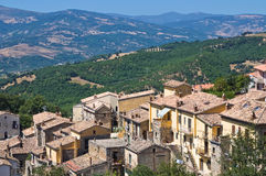 Panoramic view of Guardia Perticara. Basilicata. Italy. Royalty Free Stock Photos