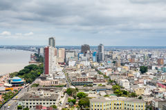 Panoramic view of Guayaquil, Ecuador Royalty Free Stock Image