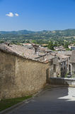 Panoramic view of Gubbio. Umbria. Royalty Free Stock Images