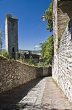 Panoramic view of Gubbio. Umbria. Royalty Free Stock Image