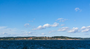 Panoramic view Gudhjem Denmark Royalty Free Stock Images