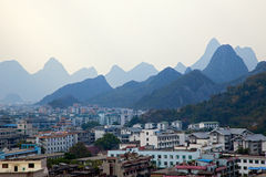 Panoramic view of Guilin. City, China Stock Images