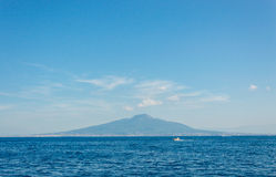 Panoramic view of Gulf of Naples and volcano Vesuvius from Sorrento Royalty Free Stock Images