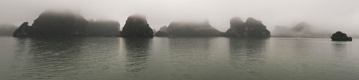 Panoramic view of the Ha Long bay Royalty Free Stock Image