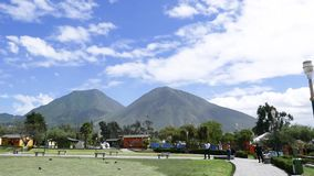 Panoramic View Half of the World Park in Quito Ecuador. Quito Ecuador April 2018 Park Half of the World in Quito dedicated to the equator line built in 1972 and stock video