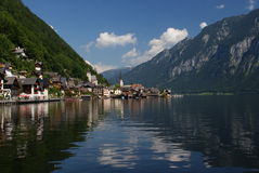Panoramic view of Hallstatt Stock Photo