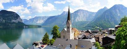 Panoramic view of the Hallstatt,  Austria Royalty Free Stock Photo