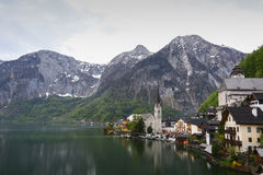 Panoramic view of Hallstatt Royalty Free Stock Photos