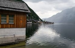 A panoramic view of Hallstatt stock image