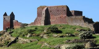 Hammershus Castle Ruin. Located on the island Bornholm, Denmmark Stock Photography