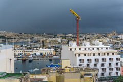 Panoramic view of the harbor, Malta Stock Photography